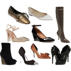 Pointy toe shoe obsession. Especially flats. :)