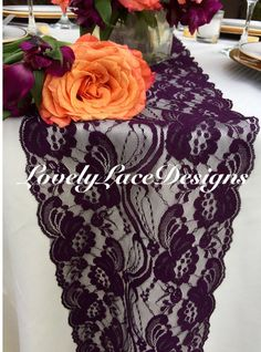 PLUM Lace Table Runner/5ft Long X 7 By LovelyLaceDesigns On Etsy