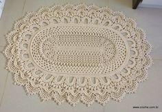 Tapete oval modelo Russo | Croche.com.br                                                                                                                                                     Mais
