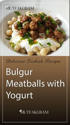 Materials and Preparation: Bulgurlu For the meatballs: 2 cups bulgur (stuffed fine cracked) 1 cup cold water 1 teaspoon salt . Meatballs 2, Turkish Recipes, 1 Cup, Yogurt, Cake Recipes, Beef, Cold, Bulgur, Meat