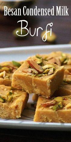 Easy Indian Dessert Recipes, Indian Desserts, Köstliche Desserts, Sweets Recipes, Indian Food Recipes, Cooking Recipes, Indian Sweets, Milk Cake Recipe Indian, Easy Indian Sweet Recipes