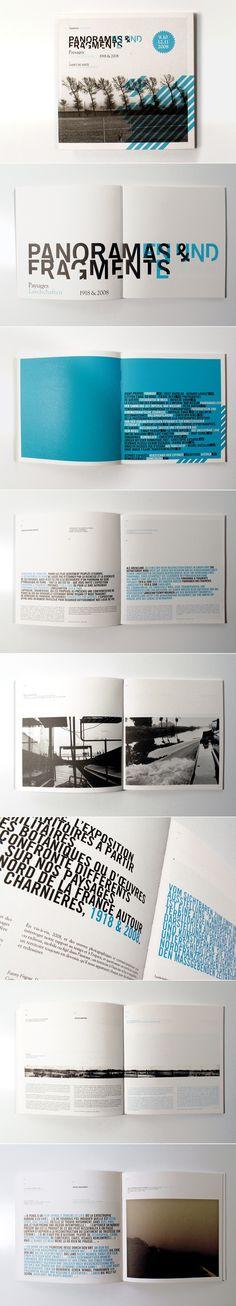 La couleur bleu choisi ainsi que la police du texte choisi nous rappellent la marque (Panoramas  Fragments) pour les diffrents produits. Elles mettent galement en avant les photos, car elles restent simples.