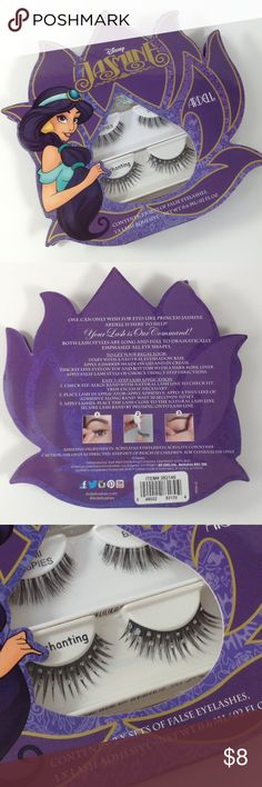 {Ardell} Disney Princess Jasmine Eyelash Set A set of two eyelashes and eyelash glue. Disney Makeup False Eyelashes
