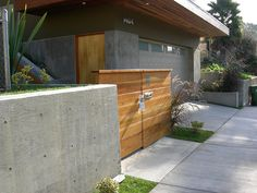 Fence and poured concrete by ginodeyoung, via Flickr