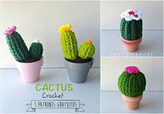cosicasraquel: Cactus de Crochet - Tres Patrones Gratuitos !!!