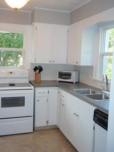$89 kitchen remodel. Cheap & quick remodel to fix colors of cabinets, walls, and countertops.