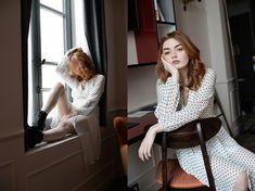 Hannah Louise - White Polka Dot Dress - White Polka Dot Dress