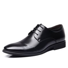 New 2017 Business Dress Men Formal Shoes Wedding Pointed Toe Fashion Genuine Leather Shoes Flats Oxford Shoes For Men