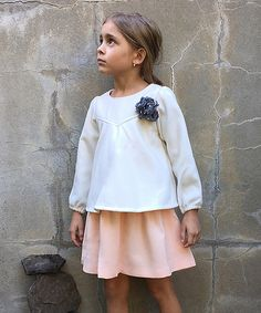 Look at this Peach & Cream Amelia Dress - Toddler & Girls on #zulily today!