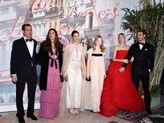 Beatrice Casiraghi Brings the Glamour for Night Out with Her New Royal In-Laws at Monaco's Rose Ball| The Royals, Andrea Casiraghi, Charlotte Casiraghi, Pierre Casiraghi, Prince Albert, Princess Caroline, Stefano Casiraghi