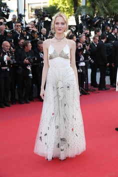 Daria Strokous in Dior at the premiere of Ismael's Ghosts opening the Cannes Film Festival in Cannes, France, May 2017.
