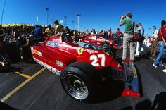 "frenchcurious: "" Gilles Villeneuve & Didier Pironi (Ferrari) Grand Prix de Las Vegas - Caesars Palace - 1981- Formula 1 HIGH RES photos (Old and New) Facebook. """