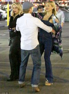 Derek Hough drops rumoured girlfriend Kate Hudson off at her car early in West Hollywood | Daily Mail Online