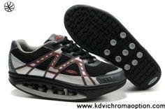 Fashion Women MBT Health Sport Shoes Black Gray