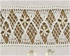 Αποτέλεσμα εικόνας για deshilados bordados Blackwork Embroidery, Cross Stitch Embroidery, Hand Embroidery, Drawn Thread, Linens And Lace, Irish Lace, Bobbin Lace, Embroidery Techniques, Needlepoint