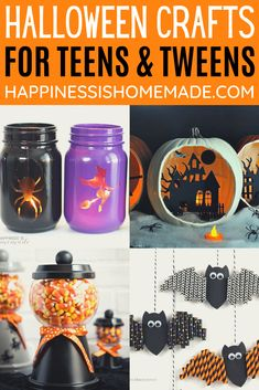 Older Kids Crafts, Arts And Crafts For Teens, Crafts For Teens To Make, Holiday Crafts For Kids, Quick Halloween Crafts, Homemade Halloween Decorations, Halloween Diorama, Halloween Games, Halloween 2020