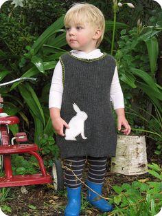 Heart Felt sitting rabbit wool tunic