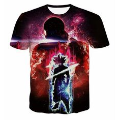 378e1169 Dragon Ball Z T-shirt Mens Summer T shirts 3D Print Super Saiyan Battle Son