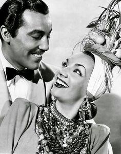 Cesar Romero y Carmen Miranda, 40's.