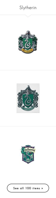 """Slytherin"" by laney-love ❤ liked on Polyvore featuring harry potter, slytherin, hogwarts, crest, hp, fillers, backgrounds, borders, effect and picture frame"