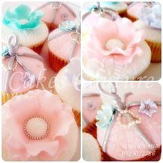 vintage cupcakes pinks