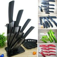 """Home   High Quality Ceramic Knife Set Chef's Kitchen Knives 3"""" 4"""" 5"""" 6"""" inch + Covers + Acrylic Holder Multi Option"""