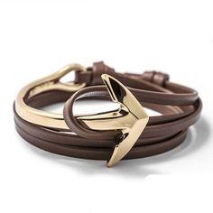 Glittering Stainless Steel Anchor Bracelet