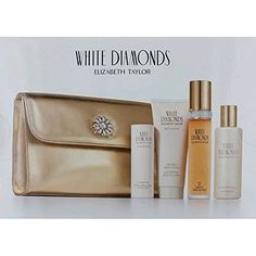 Elizabeth Taylor White Diamonds Women Giftset (Eau De Toilette Spray, Perfumed Body Lotion, Luxury Bath Bubbles, Satin Body Talc, Cosmetic Bag) *** More info could be found at the image url. Best Makeup Brushes, Makeup Brush Set, Best Makeup Products, White Diamonds Perfume, Best Foundation Makeup, Makeup Kit Essentials, Best Teeth Whitening Kit, Cat Eye Makeup, Gift Sets For Women