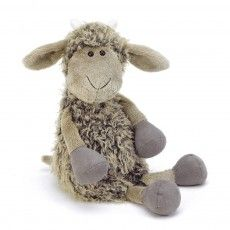 Chèvre Tiggalope - (goat that looks like a sheep. Doll Toys, Pet Toys, Kids Toys, Nephew Gifts, Best Baby Toys, Sheep Art, Sheep And Lamb, Jellycat, Sock Animals