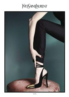 Mariacarla Boscono photographed by David Sims for, Yves Saint Laurent S/S '12.