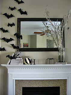 Eat. Sleep. Decorate.: Spooktacular Halloween Mantel