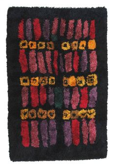 Arne Lindaas for Sellgren - Guri Rya Rug - 1966 Rya Rug, Wool Rug, Textures And Tones, Weaving Textiles, Rug Hooking, Textile Patterns, Floor Rugs, Rugs On Carpet, Vintage Rugs