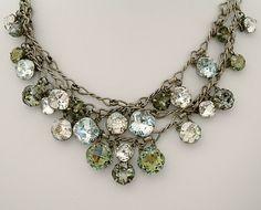 ❥ rhinestone necklace