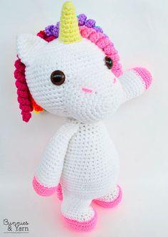 CROCHET PATTERN  Mimi the Friendly Unicorn  16 in./40 cm.
