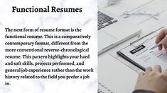 Chronological Resume, Types Of Resumes, No Experience Jobs, Functional Resume, Interview Preparation, Ppt Presentation, Resume Format, Positive And Negative, Positivity