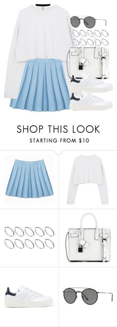 """Sin título #12344"" by vany-alvarado ❤ liked on Polyvore featuring ASOS, Yves Saint Laurent, adidas Originals and Ray-Ban"