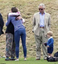 Prince George watches with The Duchess of Cambridge as Prince William plays polo with Prince Harry. Other members of the Royal Family and their children also attended, including Prince Charles, Zara Phillips and Peter Phillips. Image ©Licensed to i-Images Picture Agency. 14/06/2015. Tetbury, United Kingdom. Prince George watches Prince William play Polo. Beaufort Polo Club. Picture by i-Images