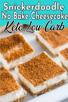 No bake keto cheesecake snickerdoodle recipe. Super easy fat bomb style with cream cheese. The best low carb crust or no crust cheesecake recipe around. #nobakecheesecake #nobakeketocheesecake #snickerdoodle Keto No Bake Cheesecake, Cheesecake Bites, Cheesecake Recipes, Low Carb Recipes, Snack Recipes, Candy Recipes, Egg Recipes, Diet Recipes, Dessert Recipes