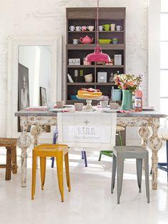 Mesas envejecidas en pinterest muebles viejos de color - Muebles envejecidos ...
