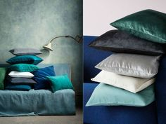 Add a rich blue pillow to your sofa to give your home a pop of glamorous color for the new year!
