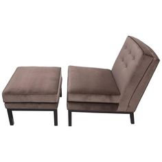 1950s Lounge Chair and Ottoman in the Style of Harvey Probber | From a unique collection of antique and modern lounge chairs at https://www.1stdibs.com/furniture/seating/lounge-chairs/