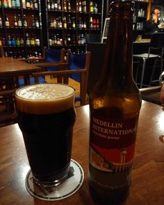 Getting #international here in #Mahon. #medellininternational chocolate porter from Latvian brewer @bakuninbrewery .
