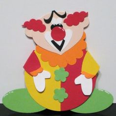 Blinkin', Thinkin', & Inkin': Chins part 5 - Bring in the clown Paper Punch Art, Punch Art Cards, Paper Art, Paper Crafts, Kids Punch, 21st Birthday Cards, Craft Punches, Owl Punch, Paper Piecing Patterns