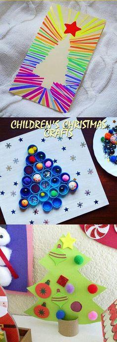 Christmas DIY Crafts for kids - Christmas Activities For Kids - Kids Crafts, Childrens Christmas Crafts, Christmas Trees For Kids, Christmas Crafts For Toddlers, Toddler Crafts, Crafts For Teens, Holiday Crafts, Diy For Kids, Funny Christmas
