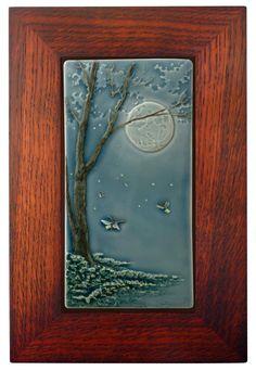framed art tile art
