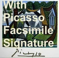 Correct documentation for Prints signed by #MarinaPicasso is After #PabloPicasso.