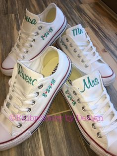 Excited to share this item from my shop: Bride Shoes, Groom shoes, Wedding Embroidered Converse Sneakers. Converse Wedding Shoes, Wedding Sneakers, Groom Shoes, Bride Shoes, Bride Converse, Cowgirl Wedding, Wedding Boots, Converse Low Tops, Converse Sneakers