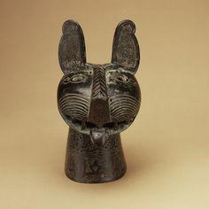 Incense burner, 1181–1182; Seljuq Jacfar ibn Muhammad ibn cAli Khorasan (eastern Iran), Iran; Found in Khorasan (eastern Iran), Tay-abad (Kariz), Iran Cast bronze with openwork decoration; H. 33 1/2 in. (85.1 cm), L. 32 1/2 in. (82.6 cm) Rogers Fund, 1951 (51.56)
