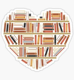 I Heart Books Sticker