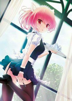 Lovely maid serves some tea #animegirl